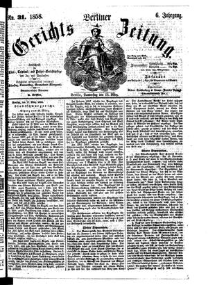 Berliner Gerichts-Zeitung vom 18.03.1858