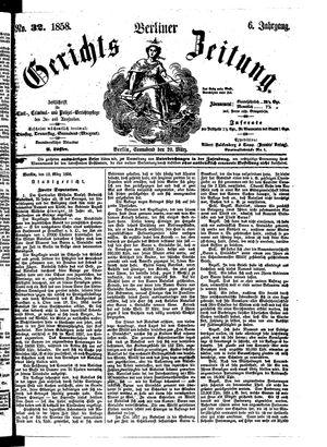 Berliner Gerichts-Zeitung vom 20.03.1858