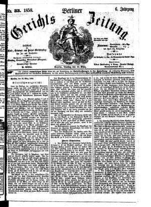 Berliner Gerichts-Zeitung vom 23.03.1858