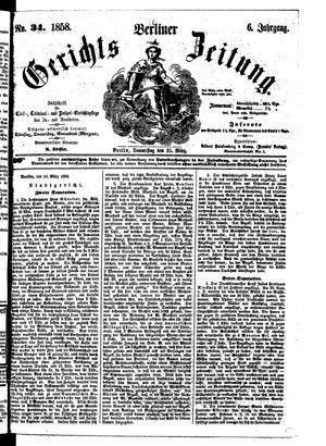 Berliner Gerichts-Zeitung vom 25.03.1858