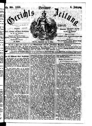 Berliner Gerichts-Zeitung vom 27.03.1858
