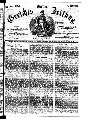 Berliner Gerichts-Zeitung vom 04.04.1858