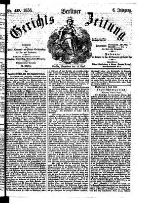 Berliner Gerichts-Zeitung vom 10.04.1858