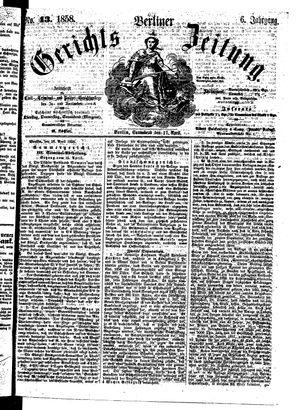 Berliner Gerichts-Zeitung vom 17.04.1858