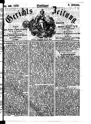 Berliner Gerichts-Zeitung vom 24.04.1858