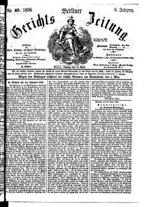 Berliner Gerichts-Zeitung on Apr 27, 1858