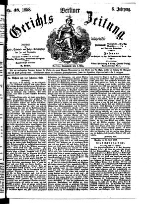 Berliner Gerichts-Zeitung vom 01.05.1858