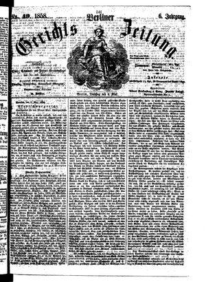 Berliner Gerichts-Zeitung vom 04.05.1858