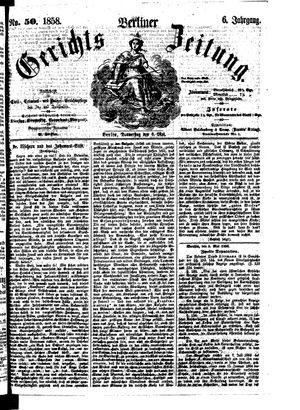 Berliner Gerichts-Zeitung vom 06.05.1858
