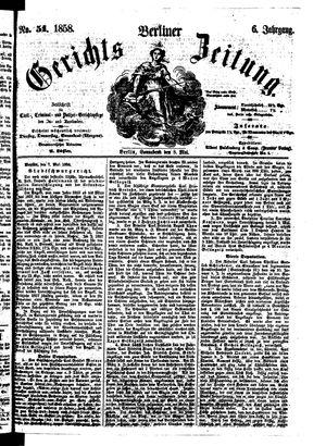 Berliner Gerichts-Zeitung vom 08.05.1858