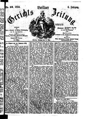 Berliner Gerichts-Zeitung vom 11.05.1858