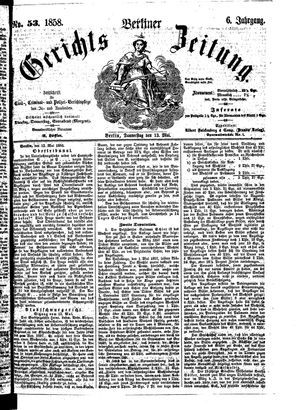 Berliner Gerichts-Zeitung vom 13.05.1858