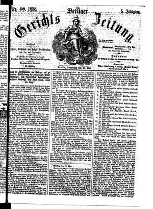 Berliner Gerichts-Zeitung on May 27, 1858
