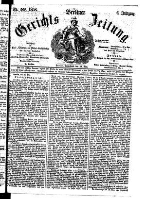 Berliner Gerichts-Zeitung vom 29.05.1858