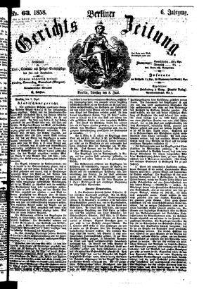 Berliner Gerichts-Zeitung vom 08.06.1858