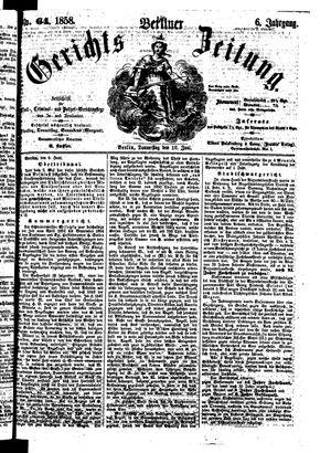 Berliner Gerichts-Zeitung vom 10.06.1858