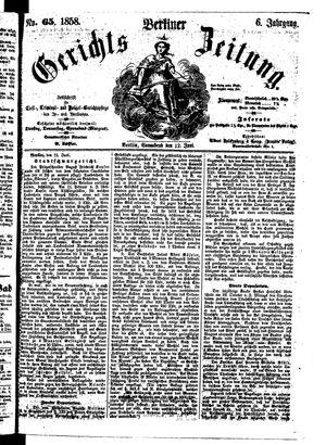 Berliner Gerichts-Zeitung vom 12.06.1858