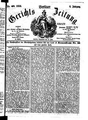 Berliner Gerichts-Zeitung vom 19.06.1858