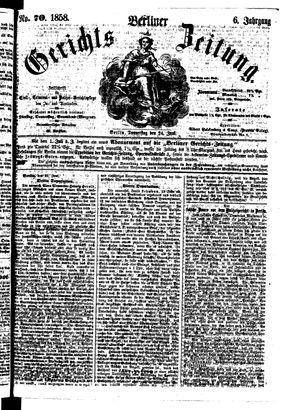 Berliner Gerichts-Zeitung vom 24.06.1858