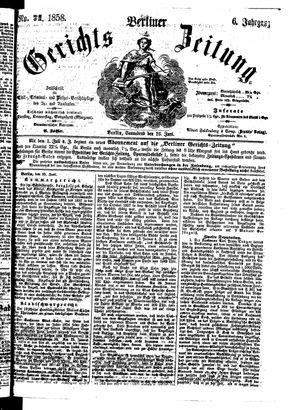 Berliner Gerichts-Zeitung vom 26.06.1858