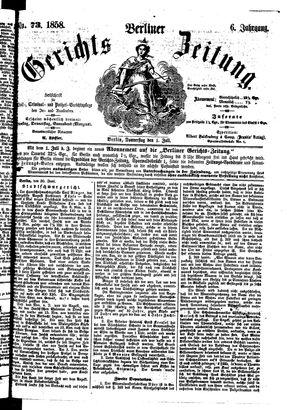 Berliner Gerichts-Zeitung vom 01.07.1858
