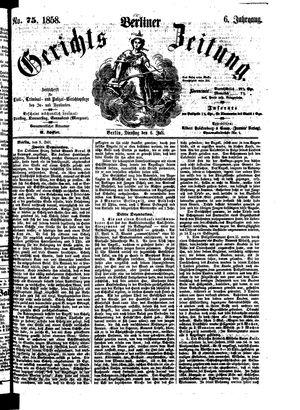 Berliner Gerichts-Zeitung vom 06.07.1858
