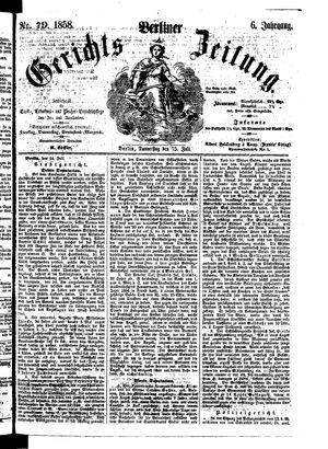 Berliner Gerichts-Zeitung vom 15.07.1858