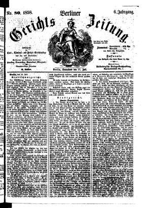 Berliner Gerichts-Zeitung vom 17.07.1858