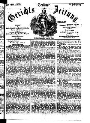 Berliner Gerichts-Zeitung vom 22.07.1858