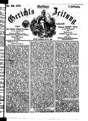 Berliner Gerichts-Zeitung vom 24.07.1858