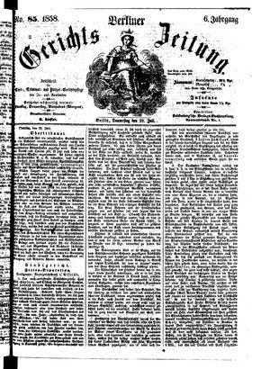 Berliner Gerichts-Zeitung vom 29.07.1858