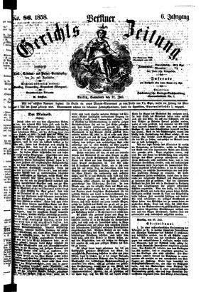 Berliner Gerichts-Zeitung vom 31.07.1858