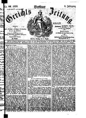 Berliner Gerichts-Zeitung vom 03.08.1858