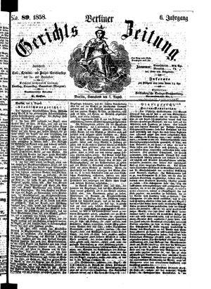Berliner Gerichts-Zeitung vom 07.08.1858