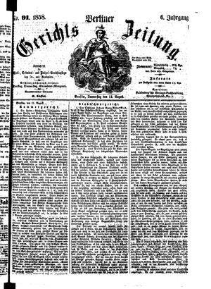 Berliner Gerichts-Zeitung vom 12.08.1858