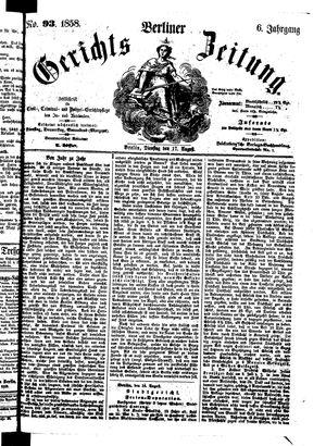 Berliner Gerichts-Zeitung vom 17.08.1858