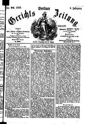 Berliner Gerichts-Zeitung vom 19.08.1858