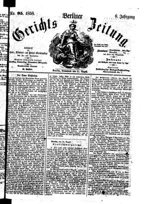 Berliner Gerichts-Zeitung vom 21.08.1858