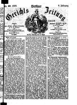 Berliner Gerichts-Zeitung vom 26.08.1858