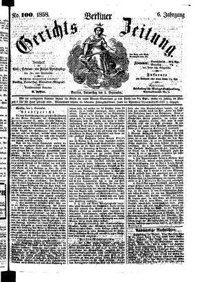 Berliner Gerichts-Zeitung vom 02.09.1858