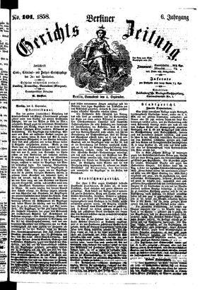 Berliner Gerichts-Zeitung vom 04.09.1858