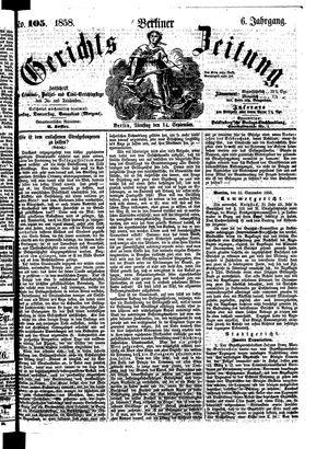 Berliner Gerichts-Zeitung vom 14.09.1858