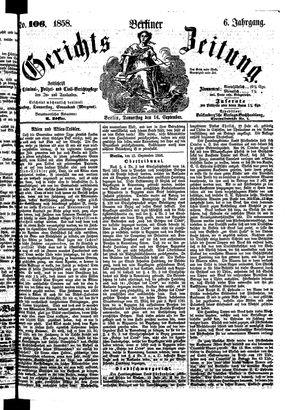 Berliner Gerichts-Zeitung vom 16.09.1858