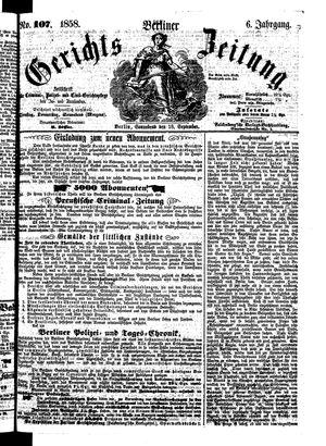 Berliner Gerichts-Zeitung vom 18.09.1858