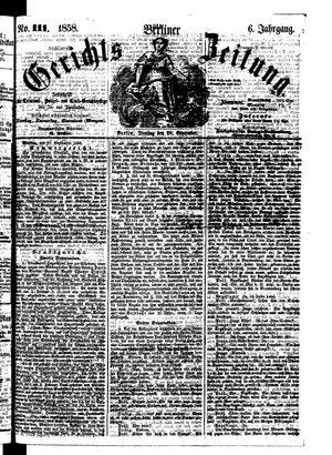 Berliner Gerichts-Zeitung on Sep 28, 1858