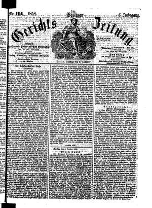 Berliner Gerichts-Zeitung vom 05.10.1858