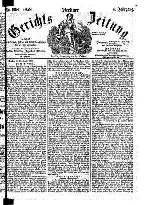 Berliner Gerichts-Zeitung on Oct 14, 1858