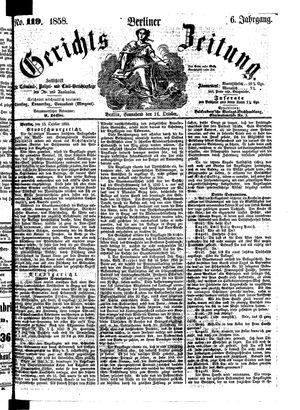 Berliner Gerichts-Zeitung vom 16.10.1858