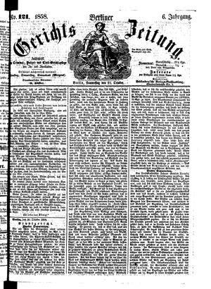 Berliner Gerichts-Zeitung vom 21.10.1858