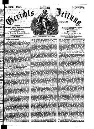 Berliner Gerichts-Zeitung vom 23.10.1858